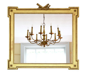 Large gilt 19th Century overmantle or wall mirror