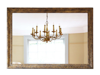 Large gilt 19th Century overmantle wall mirror
