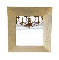 Retro quality distressed gold overmantle or wall mirror mid-20th Century Keith Vaughan