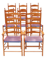 Set of 8 Shaker style dining chairs