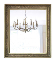 Gilt wall mirror mid-19th Century overmantle