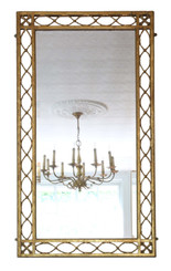 Gilt wall mirror or overmantle early 20th Century C1920