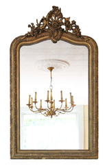Gilt wall mirror or overmantle late 19th Century