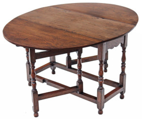 Georgian revival country oak dining table