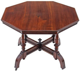 Victorian walnut J. Shoolbred centre side table