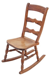 Victorian elm beech rocking chair