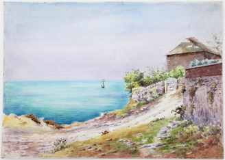British Victorian watercolour landscape painting