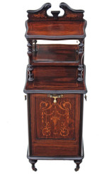 Victorian rosewood perdonium bedside table coal box