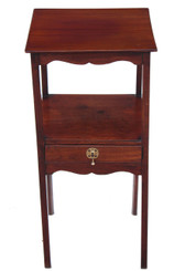 Georgian mahogany bedside cabinet table