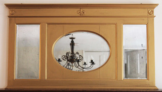 Victorian wall mirror overmantle