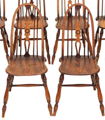 Pair of Windsor ash elm beech dining chairs