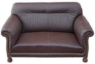 Victorian leather 2 seater sofa