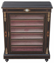 Victorian aesthetic glazed pier bookcase display cabinet