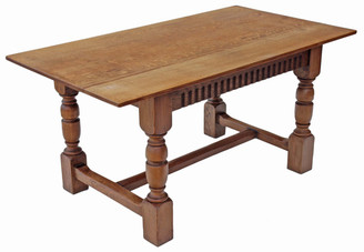 Oak refectory dining table kitchen Gothic