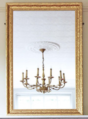 Victorian gilt wall mirror overmantle