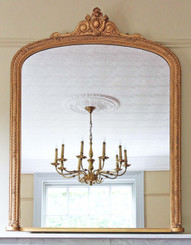 Victorian gilt overmantle wall mirror