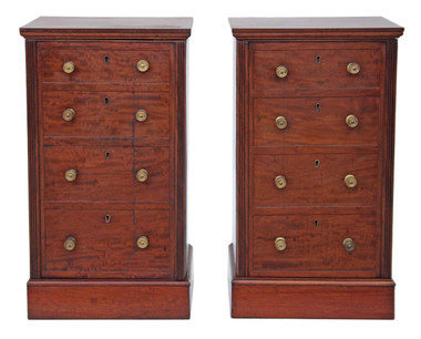 Pair of Victorian mahogany bedside tables