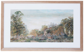 Pre-Raphaelite C1860 Victorian watercolour painting church Inchbold