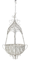 Modern large wrought iron steel planter hanging basket