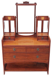 Victorian inlaid walnut dressing table