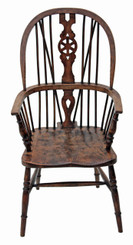Windsor elm beech ash armchair carver hall side dining chair