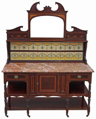 Maple and Co mahogany marble washstand or dressing table
