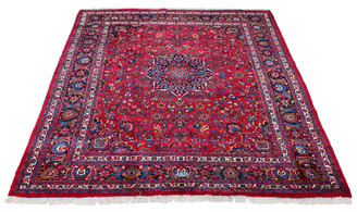 Persian hand woven wool rug red