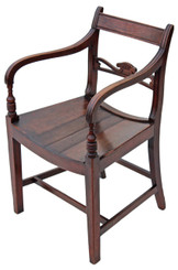 Georgian mahogany elbow carver desk chair armchair
