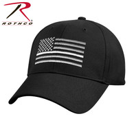 Rothco Thin White Line Flag Low Pro Cap