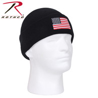 Rothco US Flag Embroidered Fine Knit Watch Cap