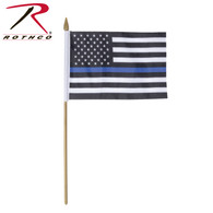 Rothco Thin Blue Line Stick Flag