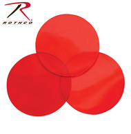 Rothco D-Cell Angle Flashlight Red Lenses - 3 Pack