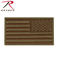 Reverse Scorpion OCP USAF Spice Brown Tactical Flag With Hook Back