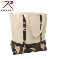 Rothco Large Camo Canvas Tote Bag