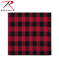 """Rothco Red Plaid Bandana –  27"""" X 27"""""""
