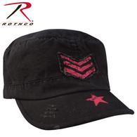 Rothco Women's Vintage Stripes & Stars Adjustable Fatigue Cap