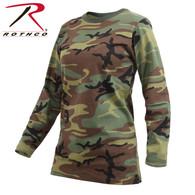 Rothco Womens Long Sleeve Camo T-Shirt