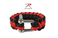 Rothco Thin Red Line Paracord Bracelet With D-Shackle