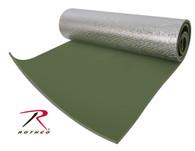 Rothco Thermal Reflective Sleeping Pad with Ties - Olive Drab
