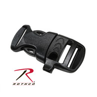 Rothco Whistle Side-Release Black Buckle 3/4""