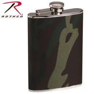 Rothco Woodland Camo Stainless Steel Camo Flask