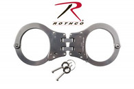 Rothco NIJ Approved Stainless Steel Hinged Handcuffs