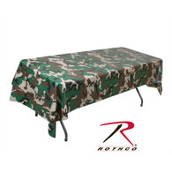 Rothco Woodland Camo Tablecloth