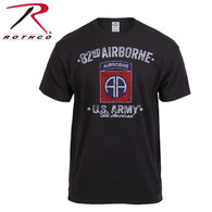 Black Ink Distressed 82nd Airborne T-shirt