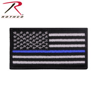 Rothco Thin Blue Line Flag Patch - Iron On