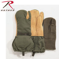 Rothco G.I. Leather Trigger Finger Mittens