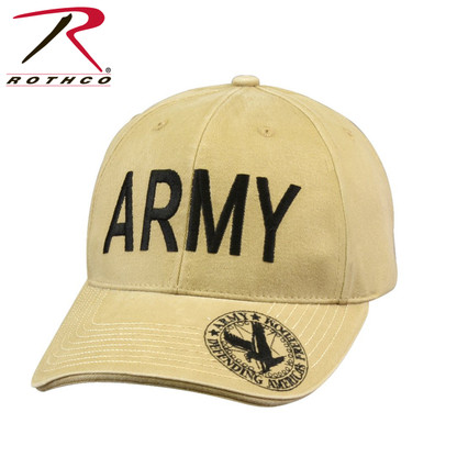 96e70650e33 Rothco Vintage Deluxe Army Low Profile Insignia Cap - LMGS Online