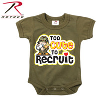Rothco Too Cute To Recruit Infant One-Piece