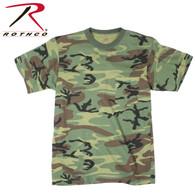 Rothco Woodland Camo T-Shirt w/ Pocket