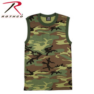 Rothco Woodland Camo Muscle Shirt